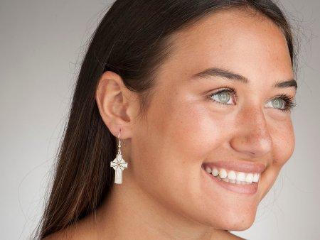 Silver Celtic Cross Earrings, Celtic Cross Jewelry, Celtic Jewelry, Irish Jewelry, Irish Earrings, Celtic Cross Earrings, ( # 776BES )