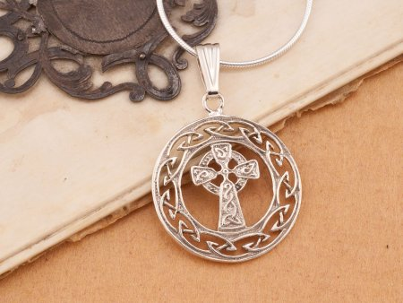 Silver Celtic Cross Pendant, Celtic Cross Jewelry, Celtic Cross Jewelry, Irish Jewelry, Friendship Jewelry, Religious Jewelry, ( # 906S )