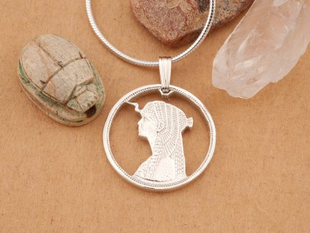 Silver Cleopatra Pendant, Silver Cleopatra Jewelry, Egyptian Jewelry, Cleopatra Pendant, Egyptian Pendant, Womans Jewelry ( # 887S )