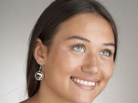 Silver Dolphin Earrings, Dolphin Earrings, Dolphin Jewelry, Silver Sea Life Earrings, Sea Life Jewelry, Womans Earrings, ( #505BES )