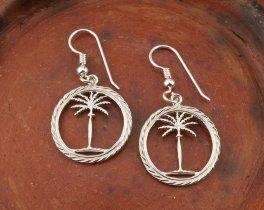 Silver Palm Tree Earrings, Palm Tree earrings, Tropical Jewelry, Tropical Earrings, Silver Womans Jewelry, Palm Tree Jewelry, ( # 859ES )