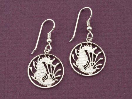 Silver Sea Horse Earrings, Sea Horse Earrings, Sea Horse Jewelry, Silver Sea Life Earrings, Sea Life Jewelry, Womans Jewelry, ( # 295ES )