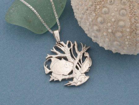 Silver Sea life Pendant, Sterling Sea life Jewelry, Tropical Fish Jewelry, Mens Sea life Jewelry, Womans Sea life Jewelry, ( # 25S )