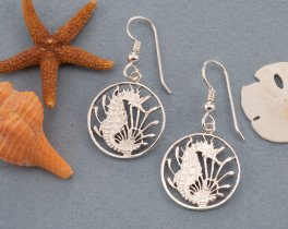 Silver Seahorse Earrings, Sterling Silver Seahorse earrings, Seahorse Jewelry, Seal Life Jewelry, Silver Seahorse Gifts, ( # 295ES )