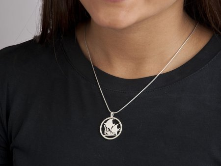"Silver Tropical Fish Pendant, Sterling Silver Tropical Fish Jewelry, Hand cut Belize Coin Jewelry, 1"" in diameter, ( # 649S )"