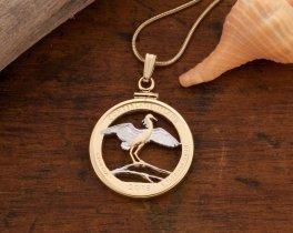 Snowy Egret Pendant, Cumberland Island Pendant, Tropical Bird Pendant, Tropical Bird Jewelry, Bird Coin Jewelry, Egret Pendant, ( # 2057 )