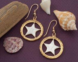 Starfish Earrings, Starfish Jewelry, Bahamas Coin Jewelry, Sea life Jewelry, Tropical Jewelry, Tropical Earrings, Bahamas Earrings, (# 923E)