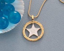 Starfish Pendant, Starfish Necklace, Sealife Necklace, Sealife Pendant, Sealife Jewelry, Jewelry For Woman, Bahamas Coin Jewelry, ( # 923 )