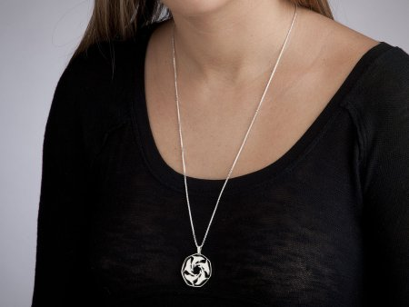 """Sterling Silver Dolphin Pendant, Silver Dolphin Jewelry, Sea Life Jewelry, Dolphin Jewelry,1 1/8"""" diameter, ( # 124S )"""