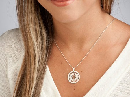 "Sterling Silver Friendship Pendant, hand cut Korean Friendship coin, Sterling Silver Friendship Jewelry, 1"" in diameter, ( # 561S )"