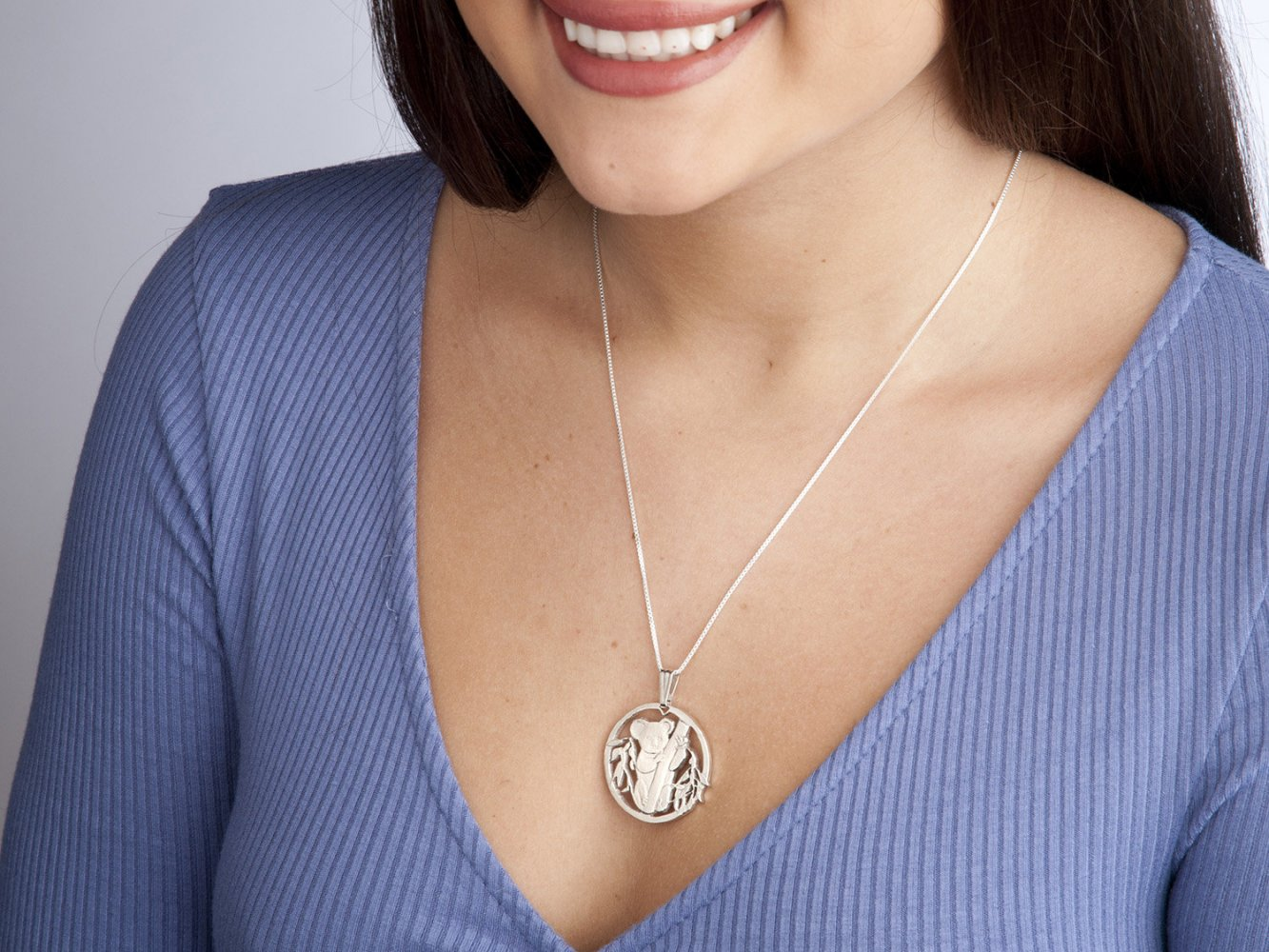 Personalised Necklace Animal Necklace Gold Australian Gift Silver MFY244 Copper Custom Made Koala Small Black Necklace