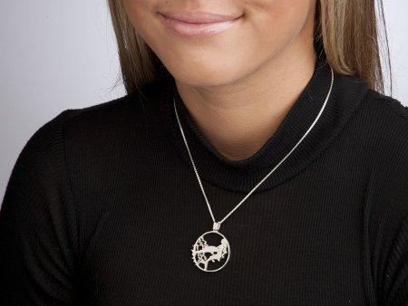 "Sterling Silver Mermaid Pendant, Hand Cut Gibralter One Crown Mermaid Coin, Sterling Silver Sea Life Jewelry, 1 1/8"" in Diameter, ( # 638S )"
