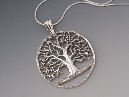 """Sterling Silver Tree Of Life, Hand Cut Sterling Silver Tree Of Life, 1 1/4"""" in Diameter, ( # 874S )"""