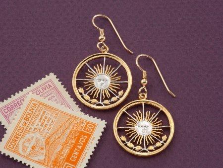 Sun Face Earrings, Sun Face Jewelry, Astrological Jewelry, Womans Earrings, Jewelry For Woman, Handmade Coin Jewelry, Coin Earrings, (# 4E )
