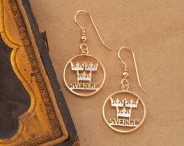 Swedish Earrings, Swedish Coin Jewelry, Sweden Jewelry, Ethnic Coin Jewelry, Jewelry For Woman, Earrings For Woman, Coin Jewelry, ( # 286E )