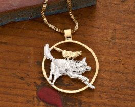Timber Wolves Pendant, Wolf Pendant, Wolf Jewelry, Wild Life Jewelry, Mens Jewelry, Womans Jewelry, Wolf Necklace, Wild Life Gifts, (# 637 )