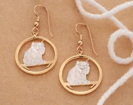 Turkish Cat Earrings, Turkish Cat Jewelry, Cat Jewelry, Cat Earrings, Cat Gifts Ideas, Earrings For Woman, Jewelry For Woman, ( # 665E )