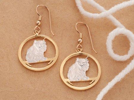Turkish Cat Earrings, Turkish Cat Jewelry, Cat Jewelry, Cat Earrings, Cat Gifts Ideas, Earrings For Woman, Jewelry For Woman, ( # 665E )