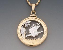 Wild Turkey Pendant, Wild Turkey Necklace, Wild Turkey Jewelry, Wild Turkey Gift Ideas, Hunters Jewelry, Turkey Hunters Gifts, ( # 2054 )